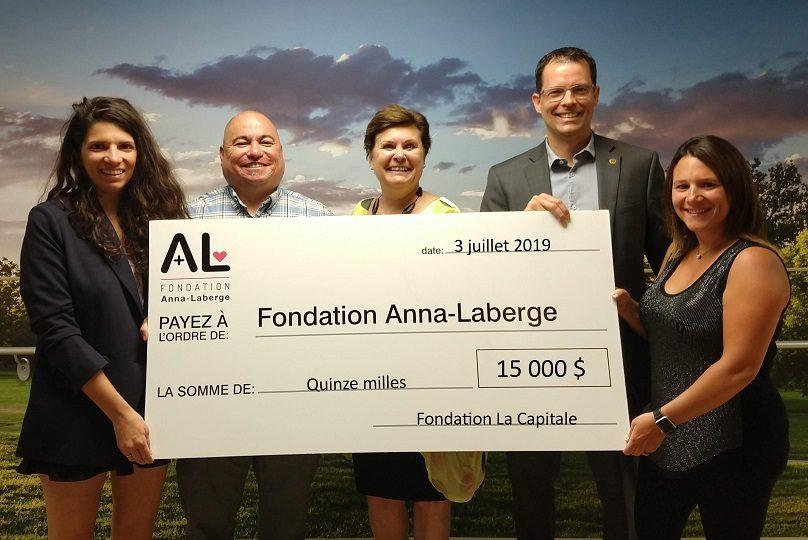 Don_Fondation La Capitale E_Pichette E_Remillard S_Rouiller S_Dubuc photo courtoisie Fondation Anna-Laberge