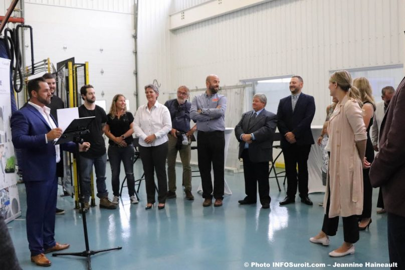 Groupe Tremblay avec ministre MJoly 17juil2019 contribution federal photo JH INFOSuroit