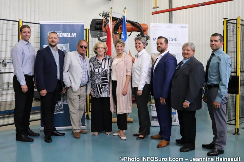Groupe Tremblay avec ministre MJoly annonce contribution du federal juil2019 photo JH INFOSuroit