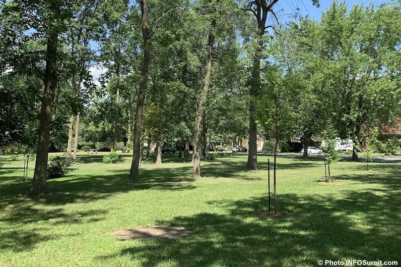 arbres foret urbaine Ville de Valleyfield parc Paquette juil2019 photo INFOSuroit