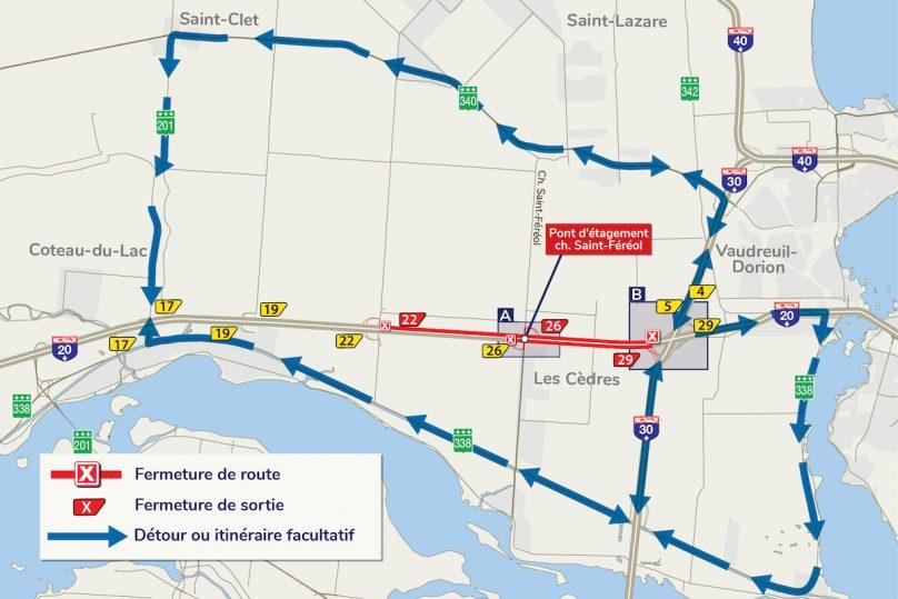 autoroute-20-a-Les_Cedres-travaux-fermeture-A20-Ouest-carte-ministere-des-Transports-du-Quebec-23072019