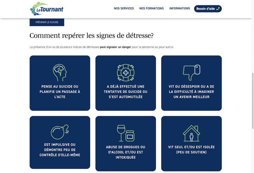 capture ecran site web LeTournant_org signes detresse 30072019
