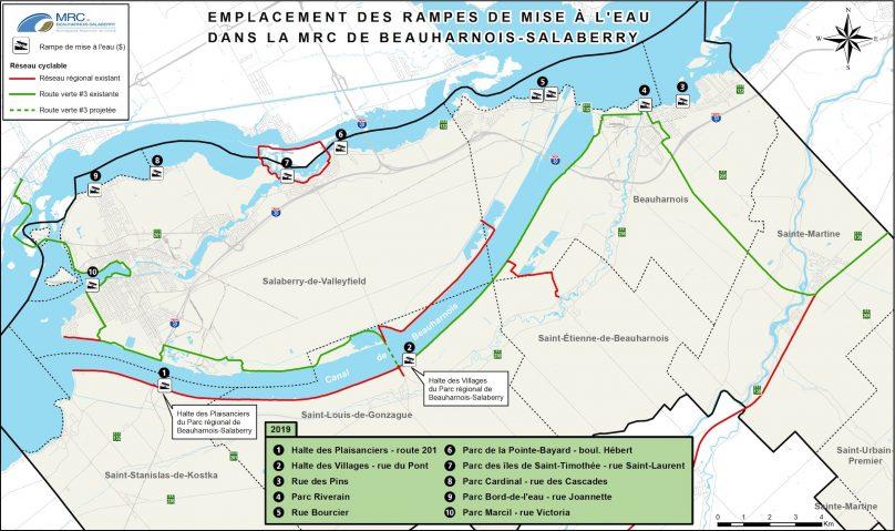carte rampes mise a l_eau MRC Beauharnois-Salaberry juil2019 visuel courtoisie