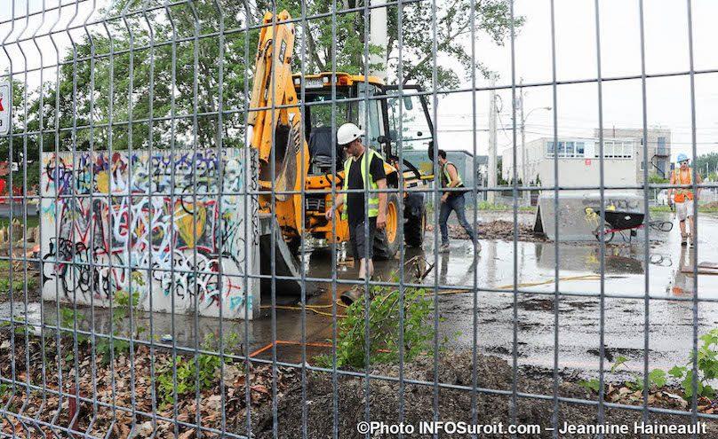 construction nouveau skatepark a Chateauguay juil2019 photo JH INFOSuroit