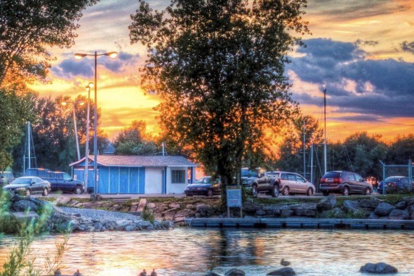coucher de soleil sur marina Beauharnois juil2019 photo courtoisie Ville Beauharnois