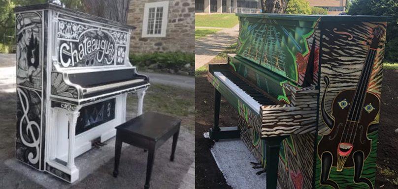 deux des pianos publics a Chateauguay photos courtoisie VC