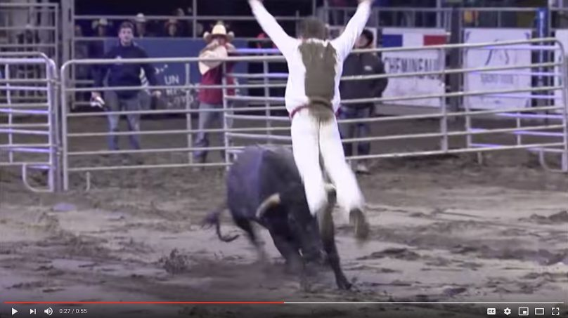 extrait Video YouTube Festival Western de St-Tite Manu Lataste et Bull Jumping