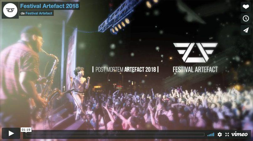 extrait video post mortem Festival Artefact 2018 via Vimeo