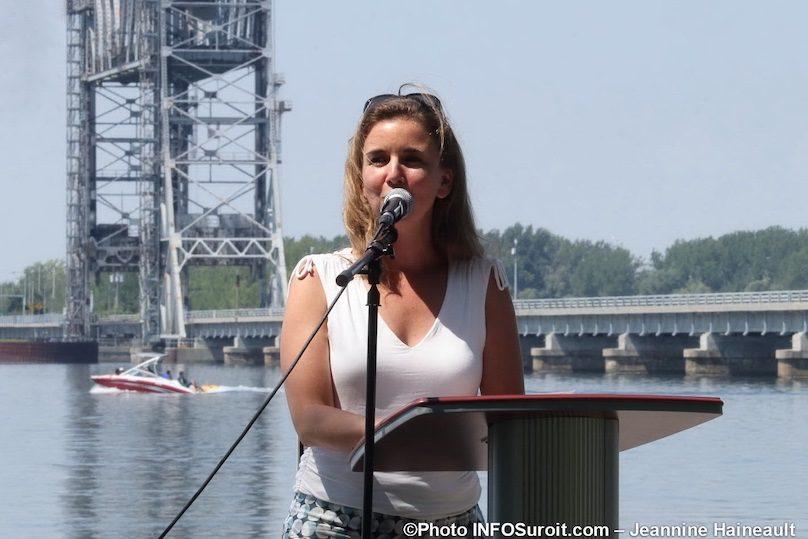 prefete MRC Maude_Laberge pont St-Louis lancement saison touristique 2019 photo JH INFOSuroit