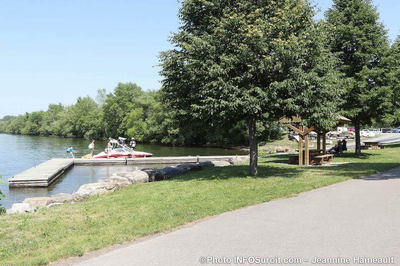 rampe mise a l_eau Halte des Villages St-Louis-de-Gonzague parc regional juil2019 photo JH INFOSuroit
