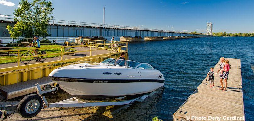 rampe mise a l_eau Halte des plaisanciers parc regional bateau photo Deny_Cardinal via MRC
