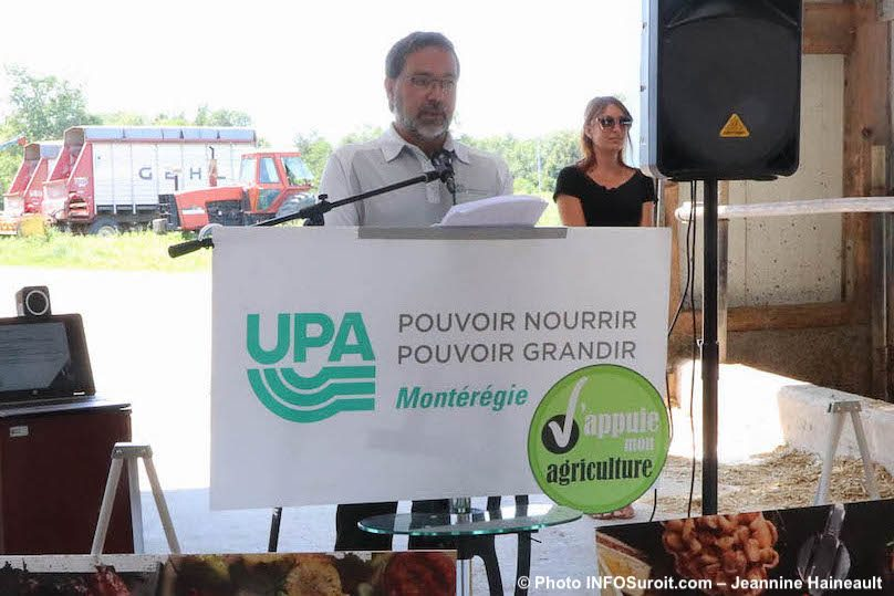 Christian_St-Jacques president Federation UPA Monteregie aout2019 photo JH INFOSuroit