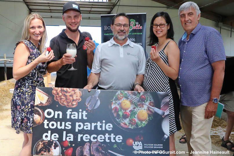 MPicard AIsabelle CSt-Jacques AQuach et LMLeduc UPA photo JH INFOSuroit