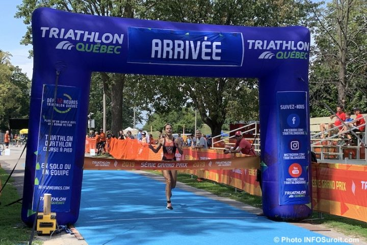 Triathlon Valleyfield 2019 course a pied femme Coupe Quebec Roy photo INFOSuroit