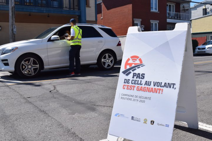 campagne securite routier Pas de cell a volant aout2019 photo via MRC
