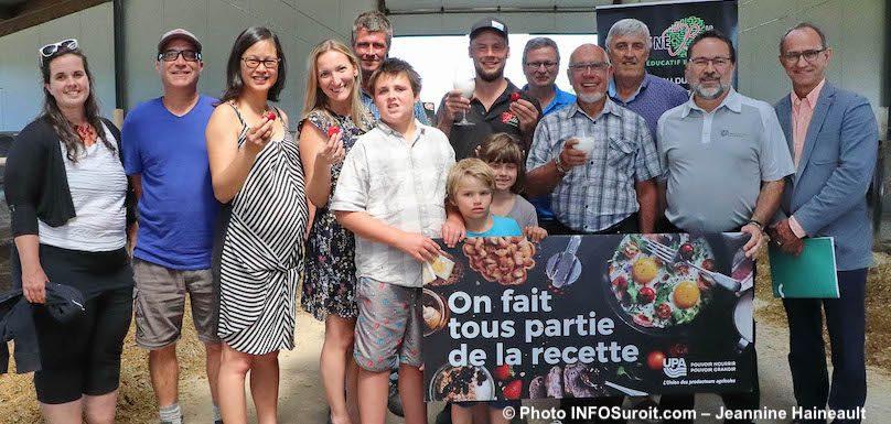devoilement details Portes ouvertes sur les fermes 2019 Coteau-du-Lac photo JH INFOSuroit
