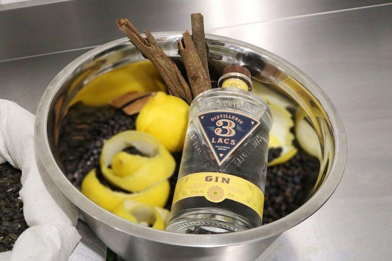 gin 3 lacs equilibre ecorce citron et rournesol photo SADC