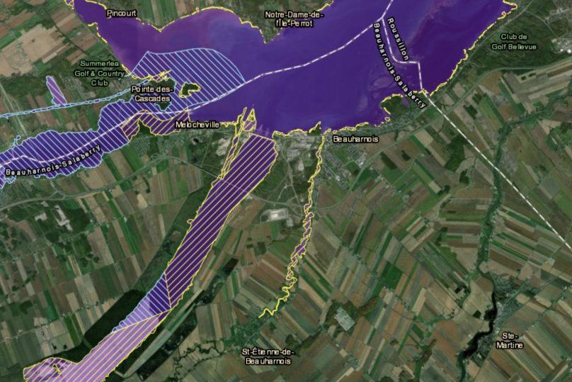 nouvelle carte zone intervention speciale ZIS 5 aout 2019 secteur Beauharnois carte courtoisie MAMH