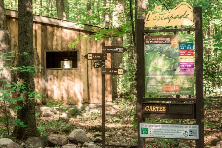 tourisme sentier-de-l-escapade a Rigaud carte photo via ExploreVS