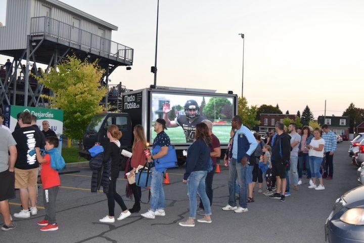 21sept2019 match football Noir et Or campagne sensibilisation Pas de cell au volant photo MRC