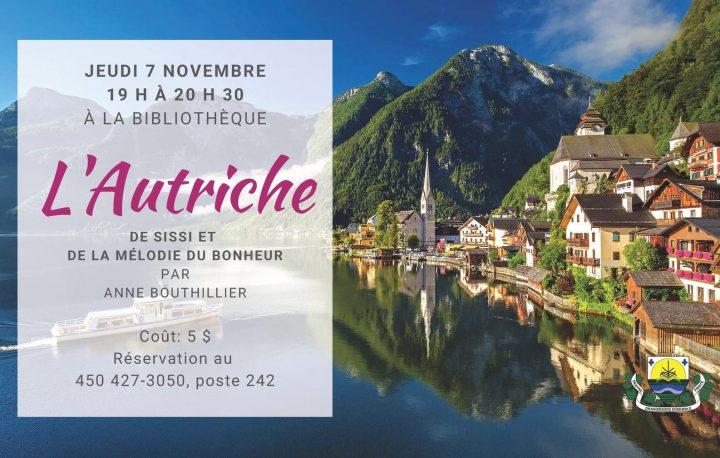 conference Autriche de Sissi et Melodie du bonheur visuel via bibliotheque Sainte-Martine