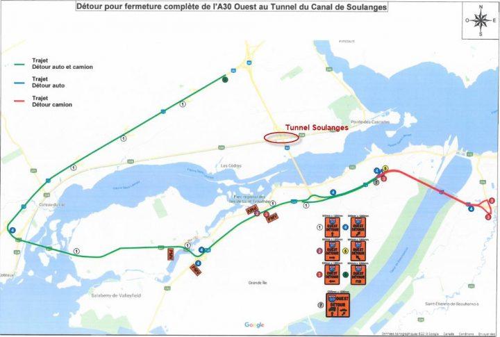 detour-tunnel-soulanges-ouest-carte-via-a30-express