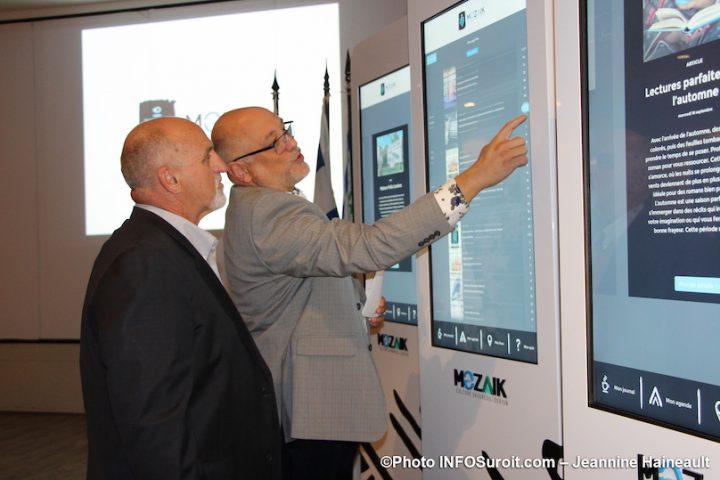 maire Vaudreuil-Dorion GPilon et MVallee lancement Je_suis_mozaik photo JH INFOSuroit