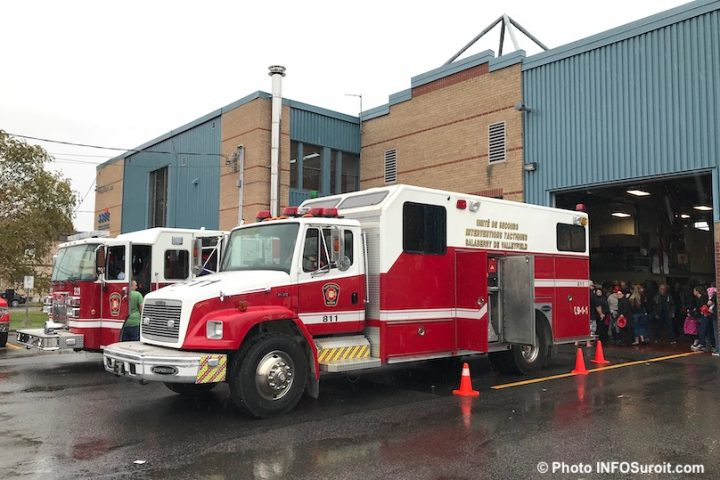portes ouvertes caserne pompiers Valleyfield camions photo INFOSuroit