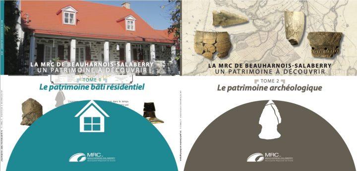 2 des 4 tomes Un patrimoine a decouvrir de la MRC de Beauharnois-Salaberry