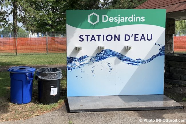 Desjardins station d_eau site du Triathlon Valleyfield 2019 parc Delpha-Sauve photo INFOSuroit