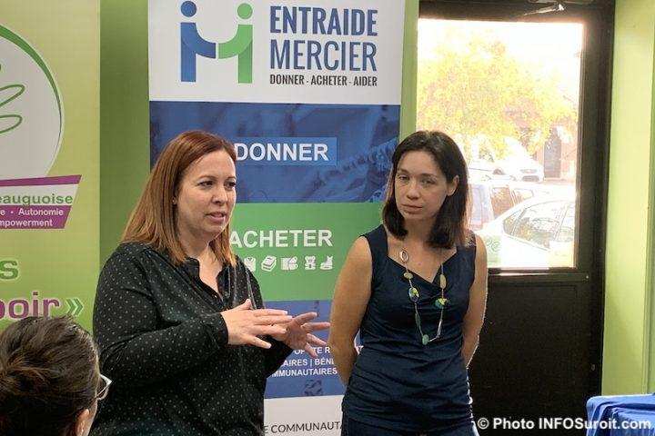 Genevieve_Dubois et Anik_Sauve 16oct2019 a Entraide Mercier photo INFOSuroit