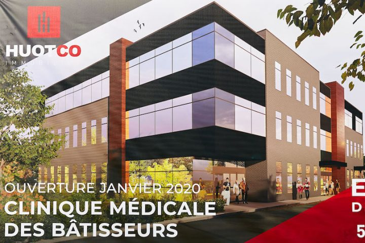 HuotCo immobilier Valleyfield affiche geante Clinique des batisseurs chemin Larocque oct2019 photo via HuotCo