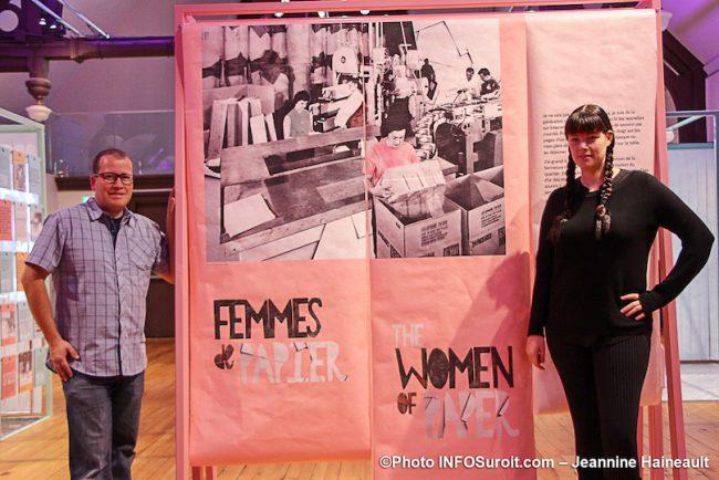 MUSO expo Femmes de papier M_Tremblay et V_Gibeault du musee oct2019 photo JH INFOSuroit