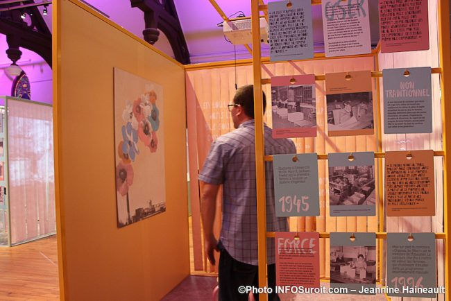 MUSO expo Femmes de papier visuel metier non traditionnel avec MTremblay du musee photo JH INFOSuroit