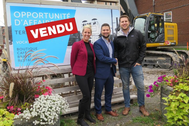 MaudeLeduc MiguelLemieux maire valleyfield et CharlesDery entrepreneur photo courtoisie SdV
