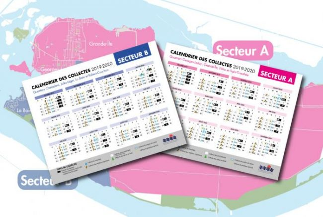 calendrier 2019-2020 collectes dechets ordures ville Valleyfield