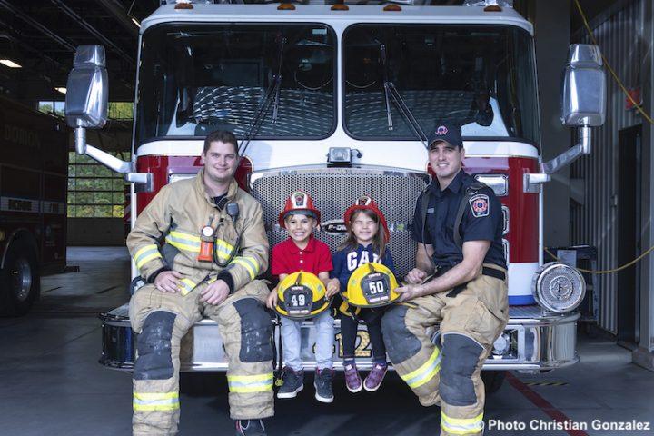 caserne securite incendie Ville Vaudreuil-Dorion pompiers et enfants photo CGonzalez via Ville VD