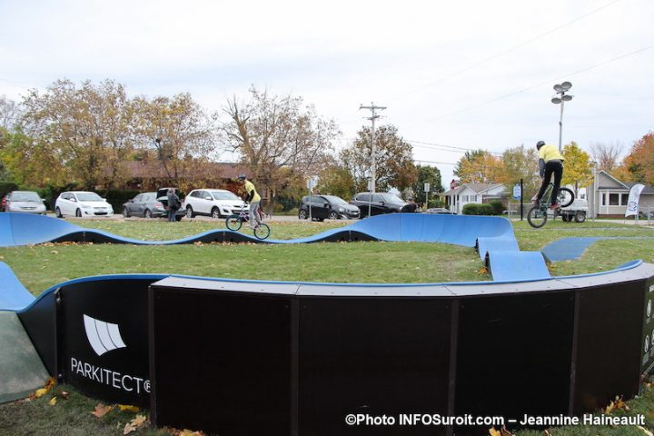 demonstration velo piste pumptrack parc Loiselle a Mercier oct2019 photo JH INFOSuroit