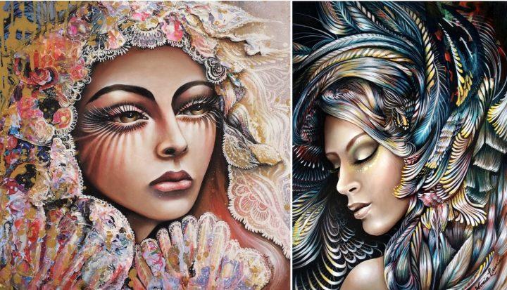 deux des oeuvres de l_expo solo Aura de l_artiste Sonia_Laurin oct2019 photos via MRC