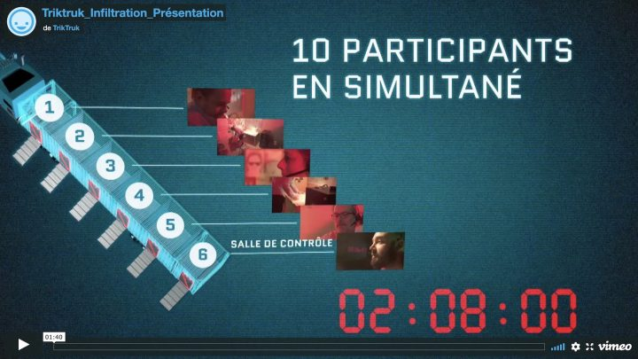 extrait video TrikTruk jeu infiltration via Vimeo