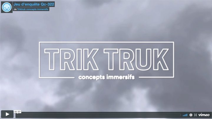 extrait video jeu enquete Trik Truk via Vimeo