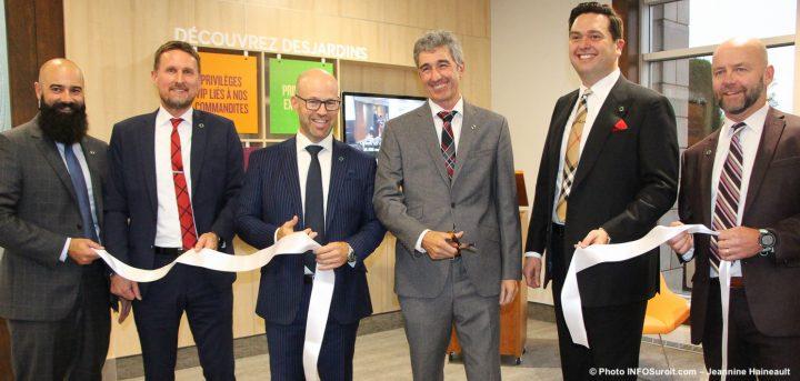 inauguration nouvel espace dynamique caisse Desjardins Valleyfield coupe de rubain 1oct2019 photo INFOSuroit