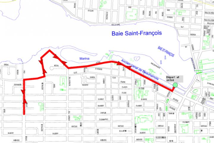 parcours de la Grande marche Pierre Lavoie de Valleyfield du 19 octobre 2019 visuel courtoisie SdV