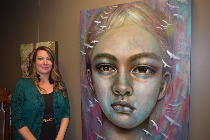 tableau Antoine oeuvre de Sonia_Laurin inspire de son fils photo MRC