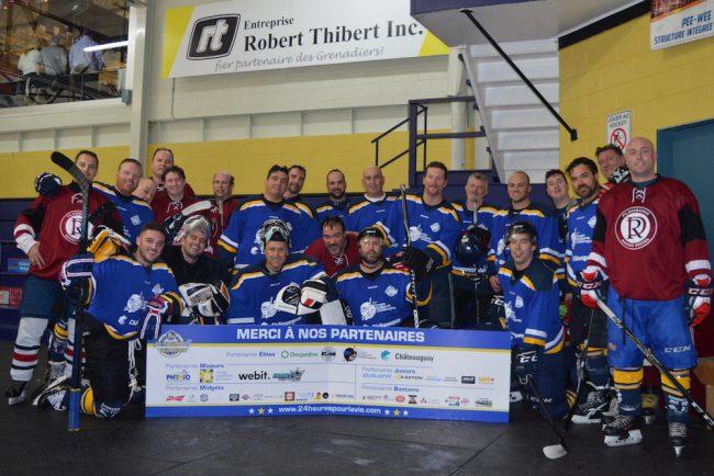 24 heures sur glace 2018 24 heures pour la vie equipes hockey photo via SP