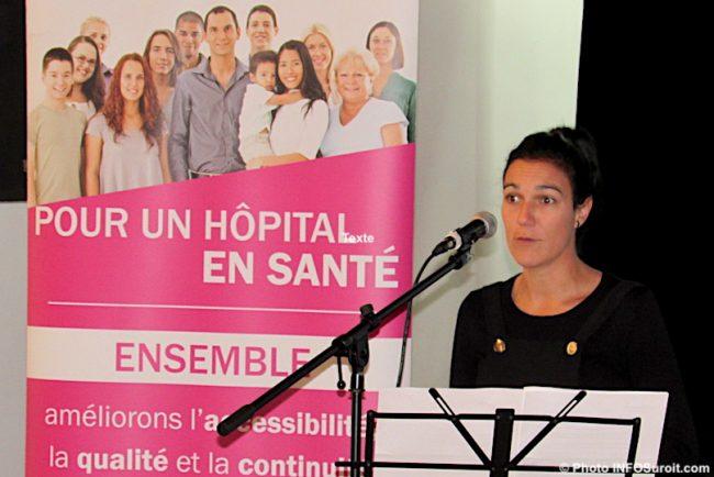 Carine_Laplante du resto bar McBroue campagne Sante Fondation Hopital Suroit nov2019 photo INFOSuroit