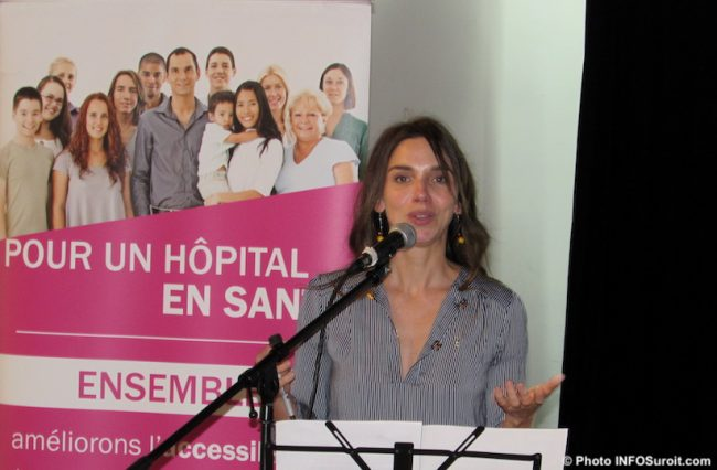 Michele_Cyr-Lemieux dg Fondation Hopital du Suroit nov2019 photo INFOSuroit