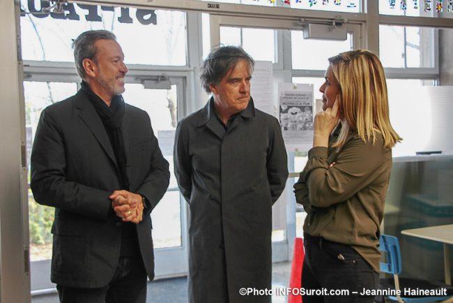 Ricardo vp Lab-Ecole et Pierre_Thibault architecte et president avec Kim_Rusk 6nov2019 photo JH INFOSuroit