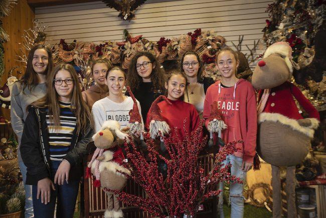 Sapin du petit bonheur jeunes benevoles etudiants ecole Baie St-Francois photo courtoisie