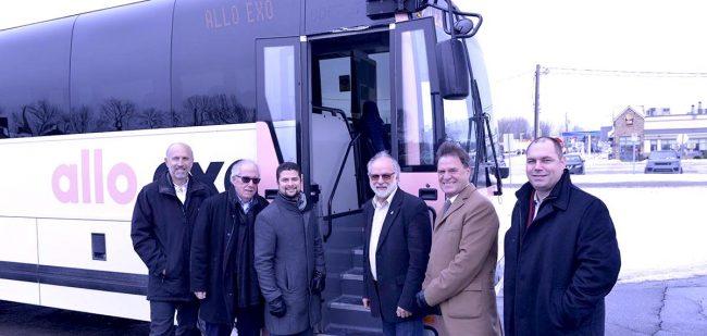 annonce geolocalisation autobus exo avec maires Sud-Ouest photo via exo